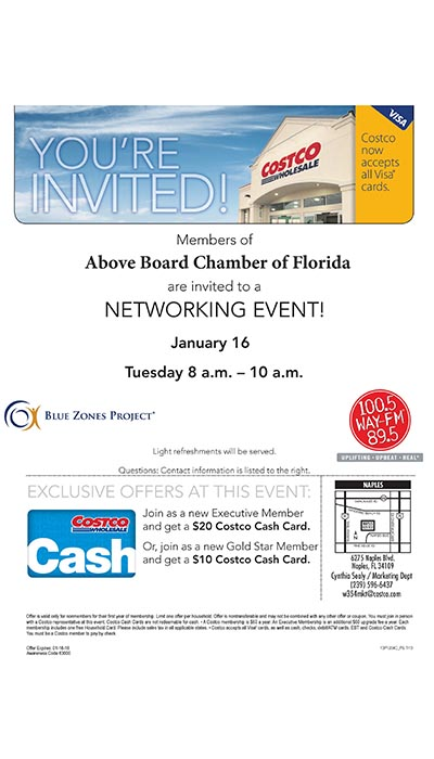 WAY-FM Business Networking Breakfast at Costco Naples