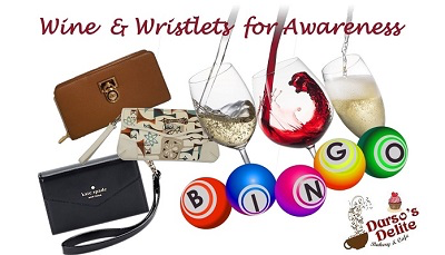 Wine & Wristlets for Awareness Bingo