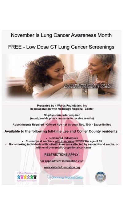 FREE Low Dose CT Lung Cancer Screenings