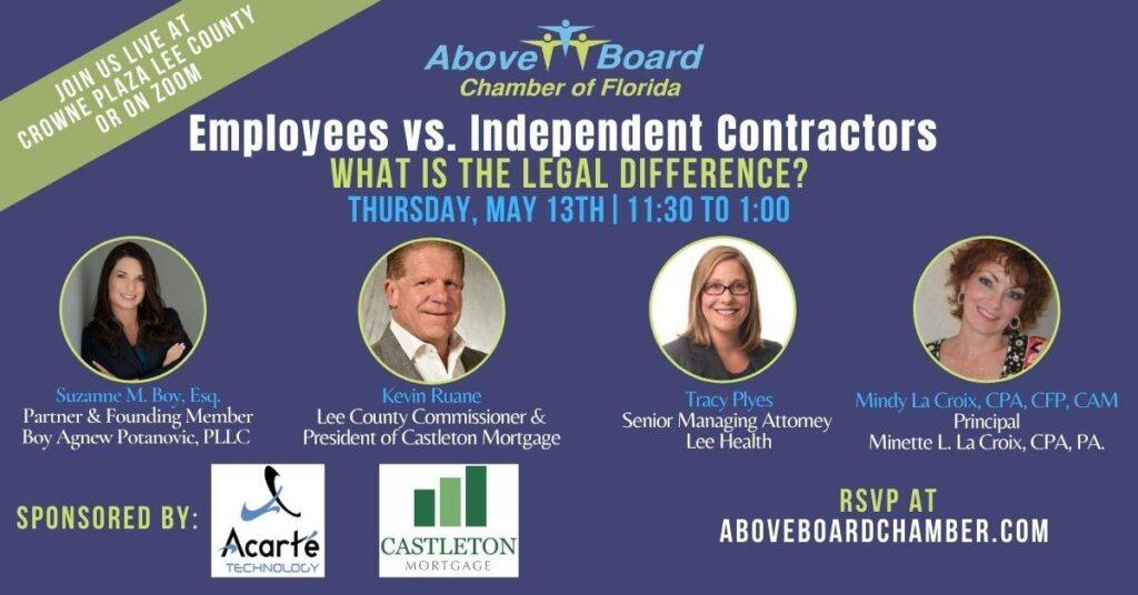 Lee County: Employees Vs. Ind. Contractors
