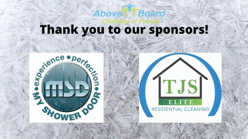 Event Sponsors TJS Janitorial and My Shower Door